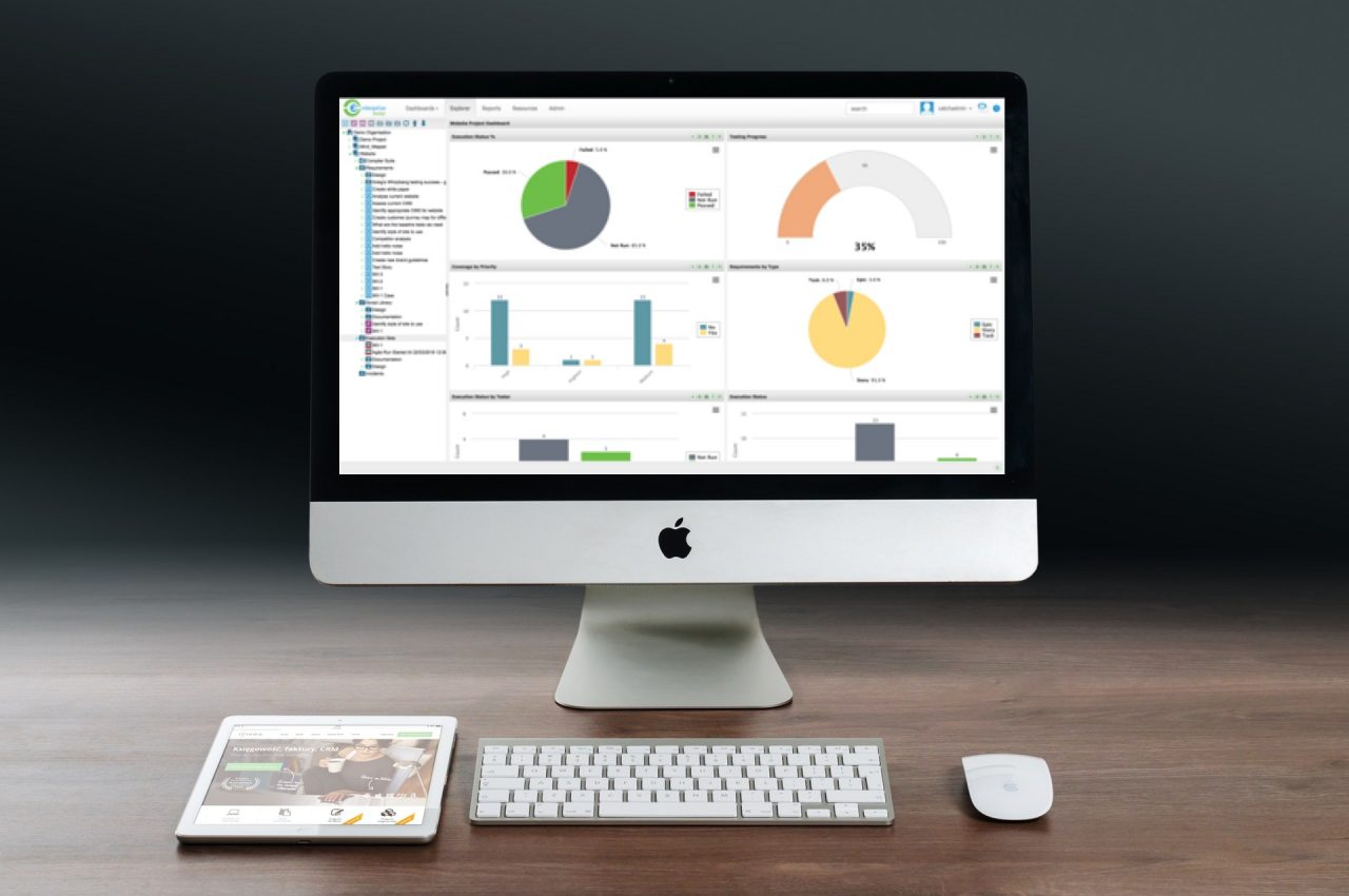 Test Management and QA Management tool (Enterprise Tester) dashboard and reporting